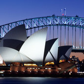 Custom Australia Vacations - Sydney Opera House with Bridge in Distance