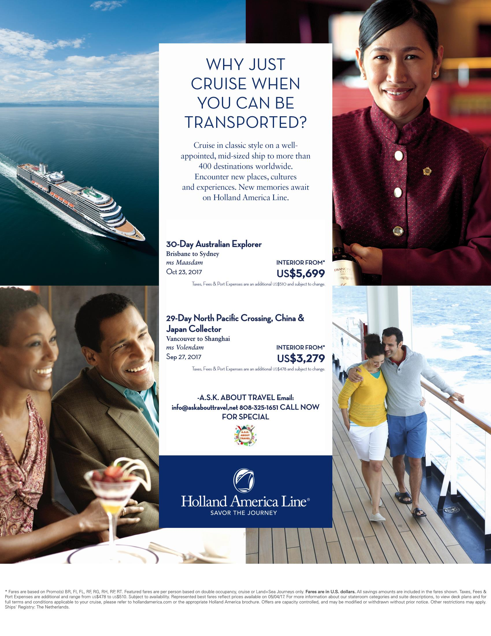 Holland America Asia and Australia Special